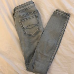 Abercrombie & fitch jean leggings in light blue